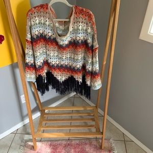 Free People Multicolored Poncho